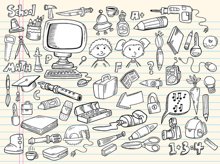 tool bag: Notebook Doodle Speech Bubble Design Elements Mega Illustration Set  Illustration