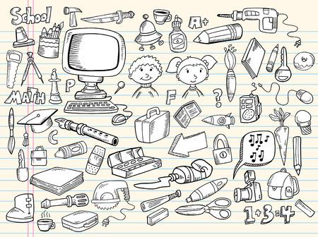 Notebook Doodle Speech Bubble Design Elements Mega Illustration Set  Stock Illustratie