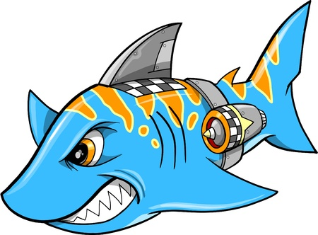 Mean Robot Cyborg Shark