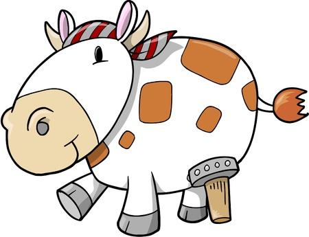 Pirate Cow Illustration
