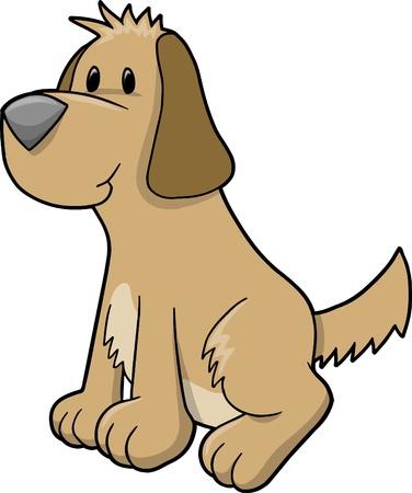 Super schattig Puppy Dog illustratie