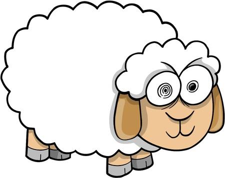 Crazy Insane Sheep Illustration