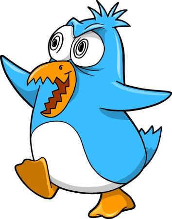 insane: Crazy Insane Penguin Illustration  Illustration