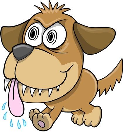insane: Wild Crazy Evil Insane puppy Dog  Illustration