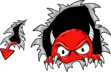 Mal diable démon Vecteur monstre Illustration Vecteurs