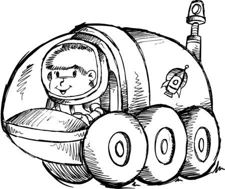 buggy: Doodle Sketch Moon Buggy  Illustration Art  Illustration