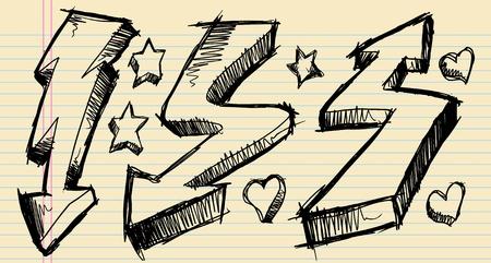Notebook Doodle Sketch Arrow Vector Illustration Set