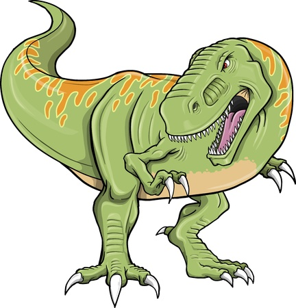 tyrannosaurus: Tyrannosaurus Dinosaur Vector Illustration