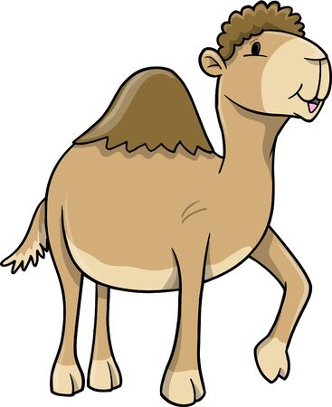 Cute Wild Camel Illustration