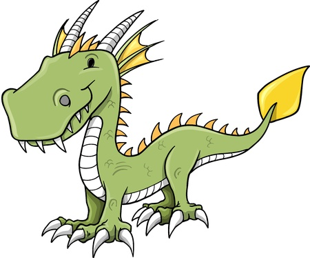Cute Little Dragon Illustration Vector