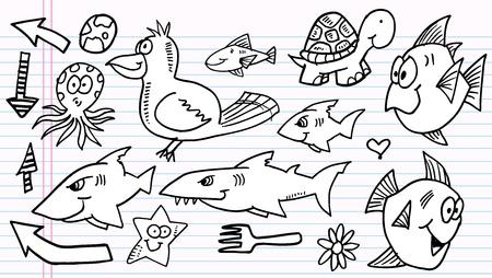 notebook: Notebook Doodle Sketch  Elements  Vector Set