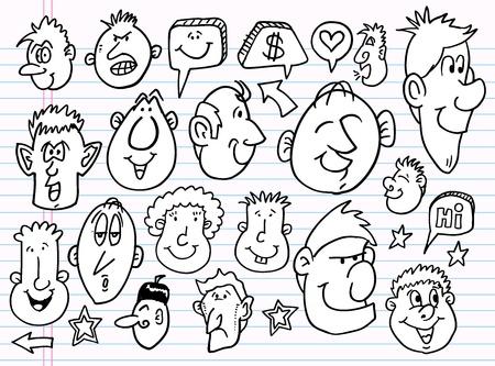sketch: Notebook Doodle Sketch  Elements  Vector Set