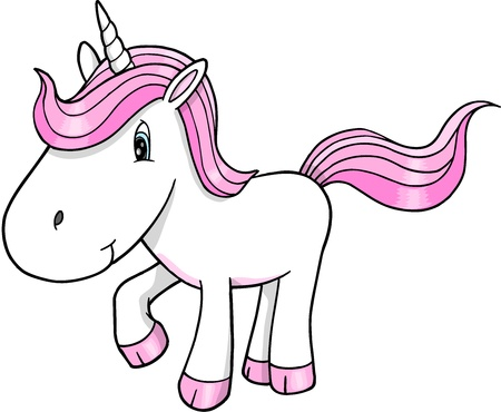 Cute Unicorn Vector Illustration Art Vector