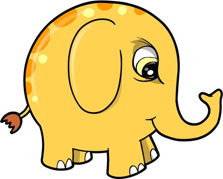 elephant angry: Angry Mad Elephant Animal Vector Illustration Art