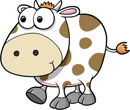 silly: Silly Cow Animal Vector Illustration Art
