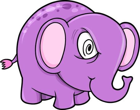 insane: Crazy Insane Elephant Animal Vector Illustration