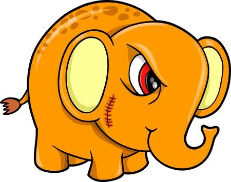 Tough Mean Elephant Animal Vector Illustration Stock Vector - 12413906