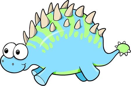 funny: Silly Funny Goofy Dinosaur Animal Vector Illustration Illustration
