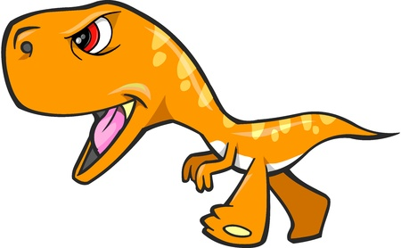 Tough Oranje Dinosaurus T-Rex Vector Art