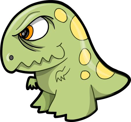 tough: Tough Green Dinosaur Animal Vector Illustration Art