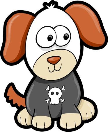 Puppy Dog Animal Vector Illustration Art