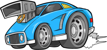 racing: Street Car Vehicle Vector Illustration art