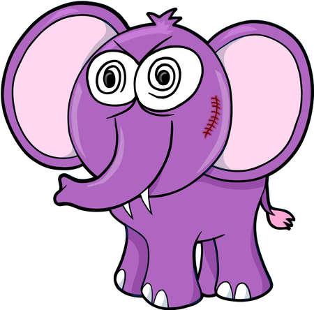 insane: Crazy Insane Elephant Vector Illustration Art Illustration