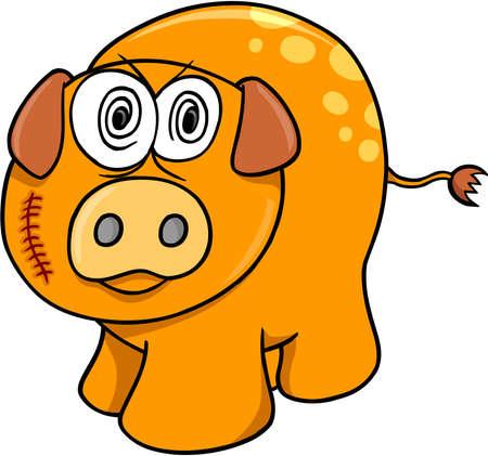 scar: Crazy Farm Pig Vector Art