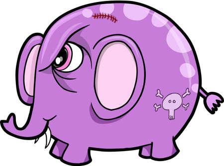 tough: Tough Elephant Animal Safari Vector Illustration Art Illustration