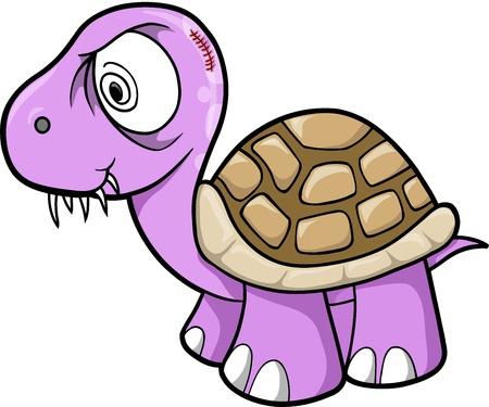 insane: Crazy Insane Turtle Animal Wildlife Vector Illustration Art