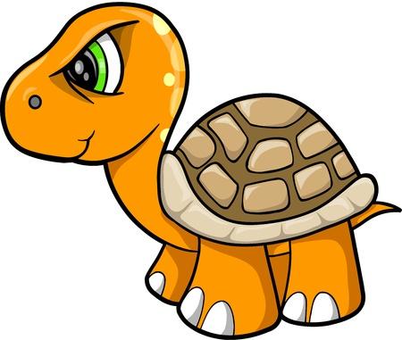 wildlife: Tough Turtle Animal Wildlife Vector Illustration Art
