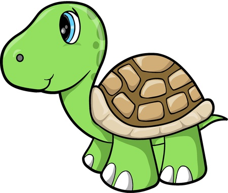 Cute Turtle Animal Vector Illustration Stock Vector - 12415089