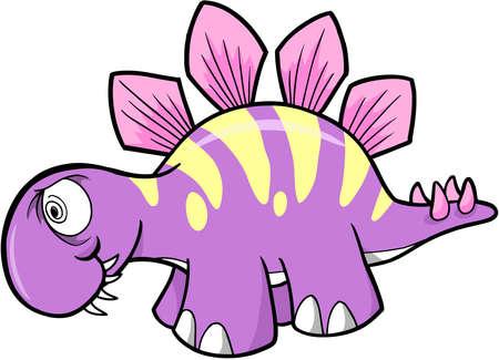 stegosaurus: Loco Stegosaurus Dinosaur Vector Vectores