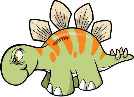 stegosaurus: Tough Stegosaurus Dinosaur Vector