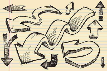 Sketchy doodle Arrows Illustration Set