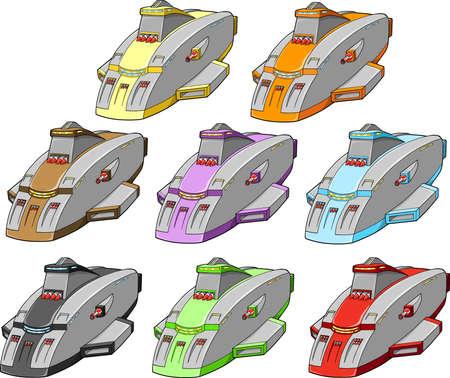 Spacecraft Spaceship design element Vector Illustration  向量圖像