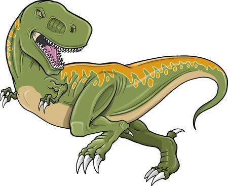 Tyrannosaurus Dinosaur Vector Illustration Фото со стока - 12852106