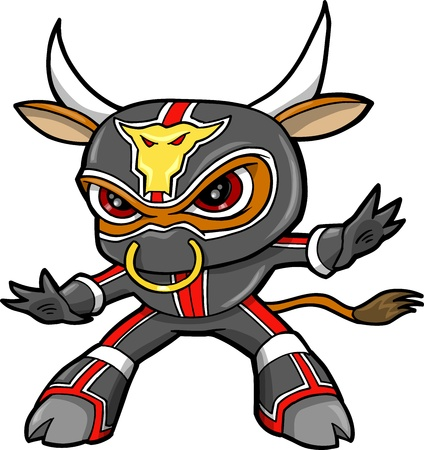 bulls: Bull Ninja Warrior Vector
