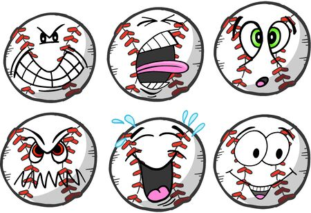 Baseball emotion Sports Icon Vector Illustration Çizim