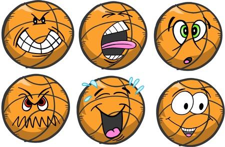 バスケット ボール感情スポーツ アイコンのベクトル図