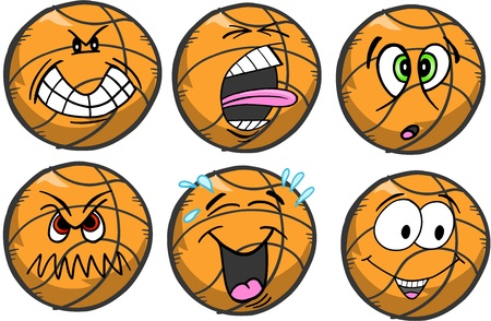 Basketball emotion Sports Icon Vector Illustration