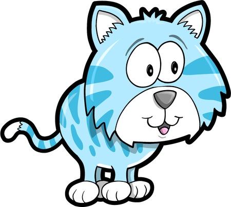 Cute Tiger Animal Vector Illustration Art  Stock Vector - 13199036