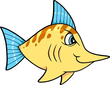 tough: Tough Mean Fish Illustration