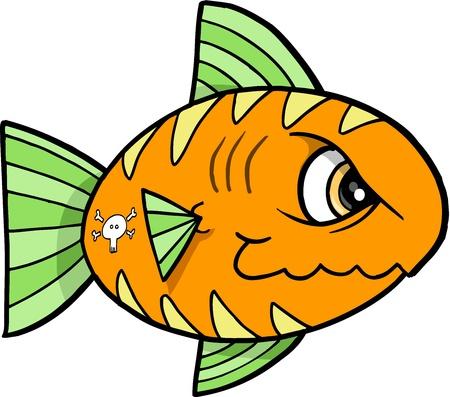 tough: Tough Fish Vector Illustration Illustration