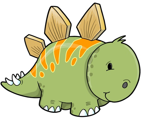 stegosaurus: Dinosaurio Stegosaurus ilustraci�n vectorial