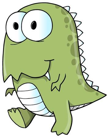 dinosaurio caricatura: Tyrannosaurus Rex Dinosaur ilustración vectorial