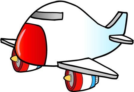 Jumbo Jet Vector Illustration  Иллюстрация