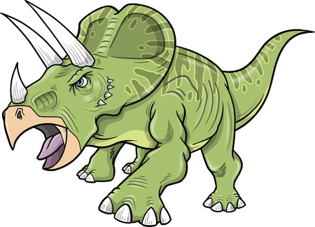 dinosaurio: Triceratops Dinosaurio Vectores