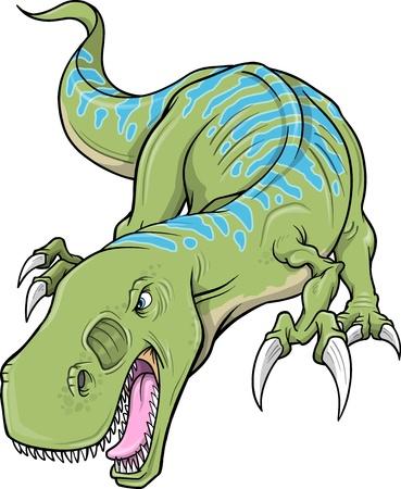 Tyrannosaurus Rex Dinosaur Stock Vector - 13658304