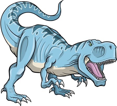 tyrannosaurus: Tyrannosaurus Rex Dinosaur Vector Illustration  Illustration